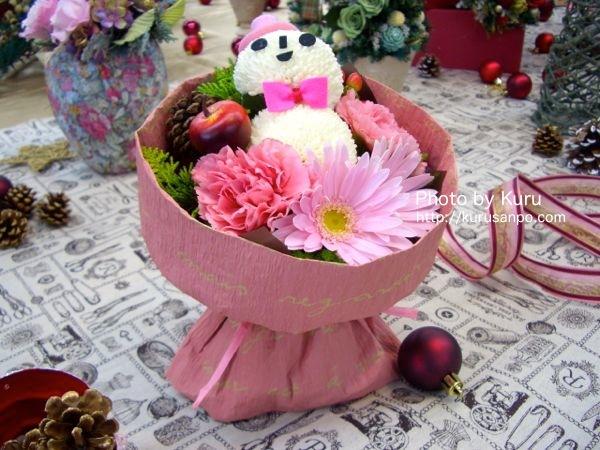 日比谷花壇『そのまま飾れるブーケ「キュートな雪だるまのブーケ」』