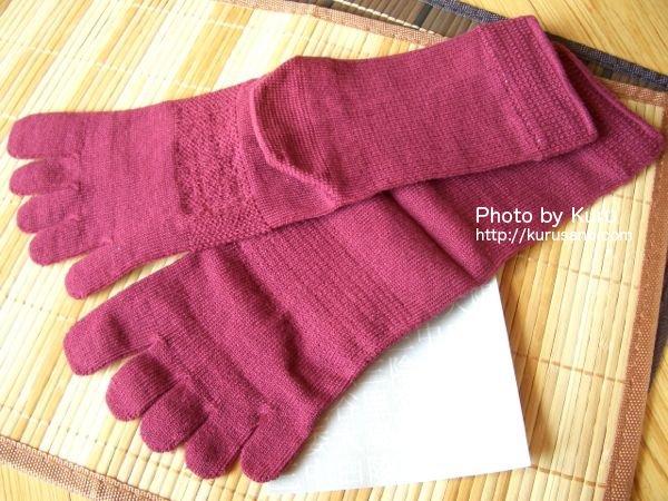 シルクパーティー『絹木綿 5本指靴下』