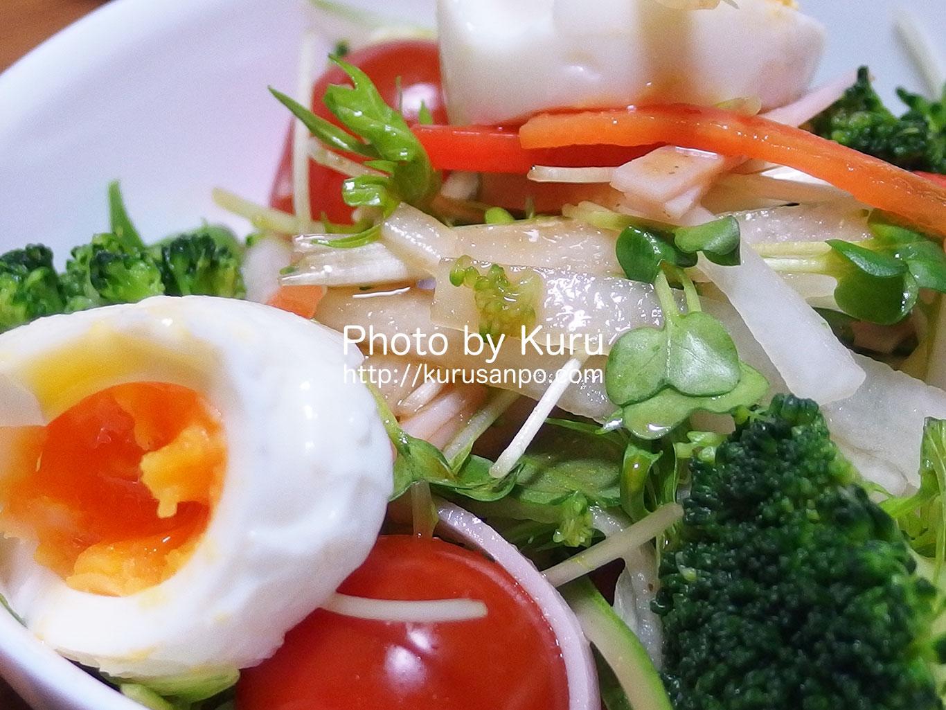 大地を守る会の『お試しセット』の野菜をサラダでいただく♪