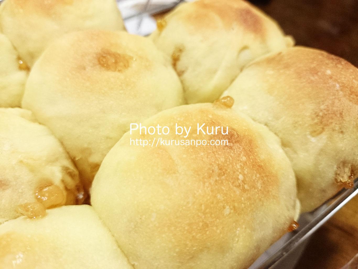 ベッカ晶子さんの『日本一簡単に家で焼けるパンレシピ』のレシピでメープルパンを焼いたよ♪
