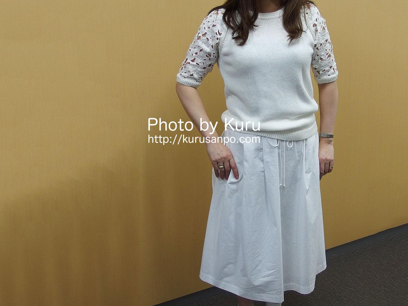ベルメゾンの黒田知永子さんプロデュース『レースニット』と『ふんわりスカート』が大人可愛い♪