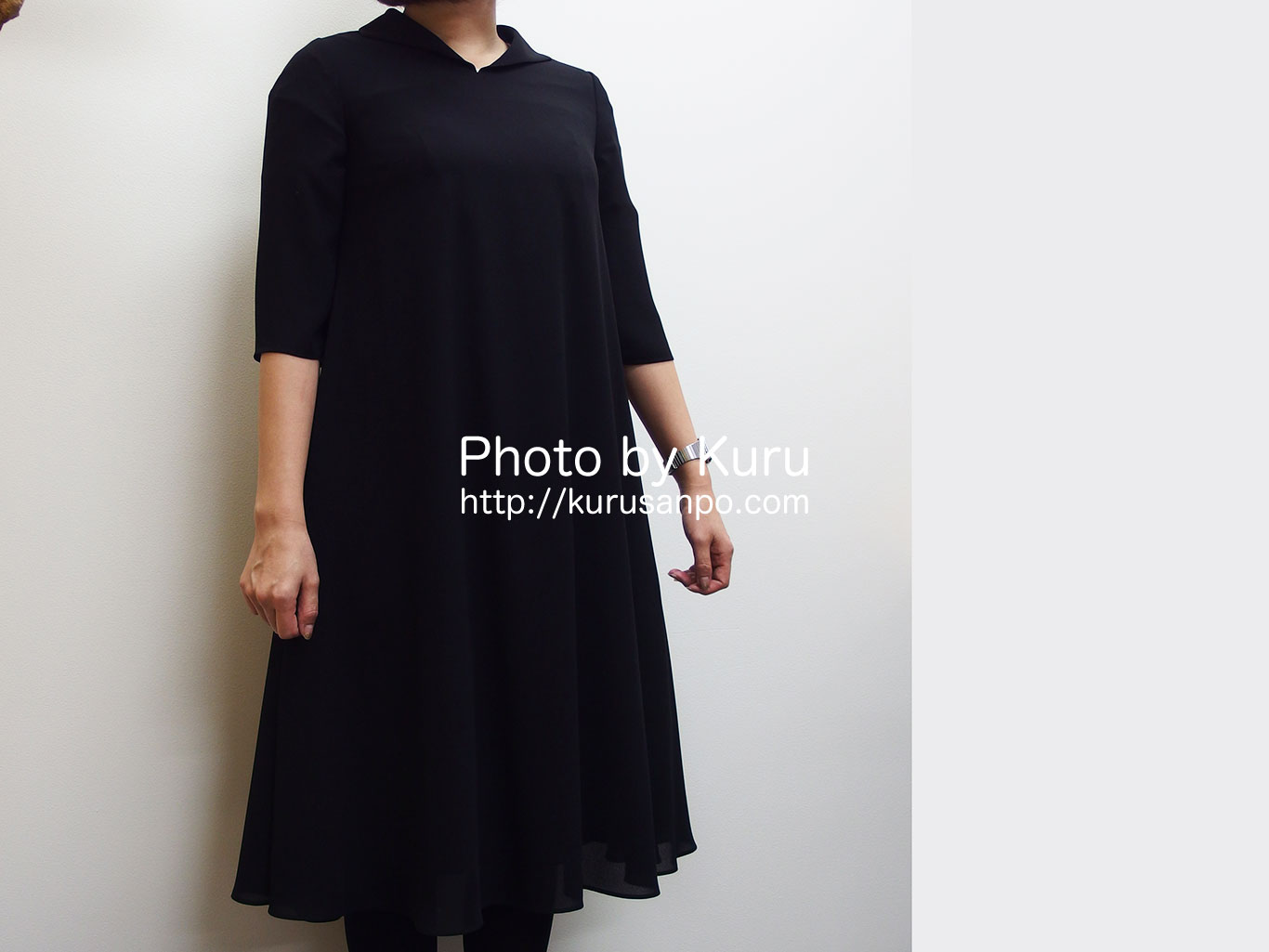 ベルメゾンの『黒田知永子×東京ソワール ブラックワンピース』が素敵♪