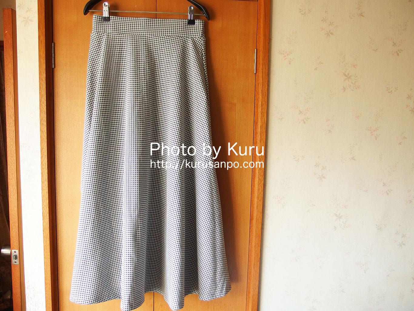 アースミュージック&エコロジーの『すきな丈スカート(ギンガムロングフレアスカート)』を購入♪