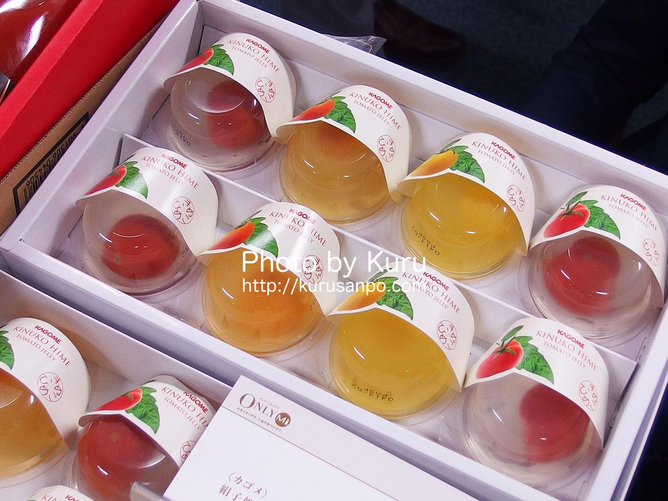 カゴメのお中元ギフト『絹子姫とまとゼリーギフト』フルーツみたいな甘いトマトゼリーです♪