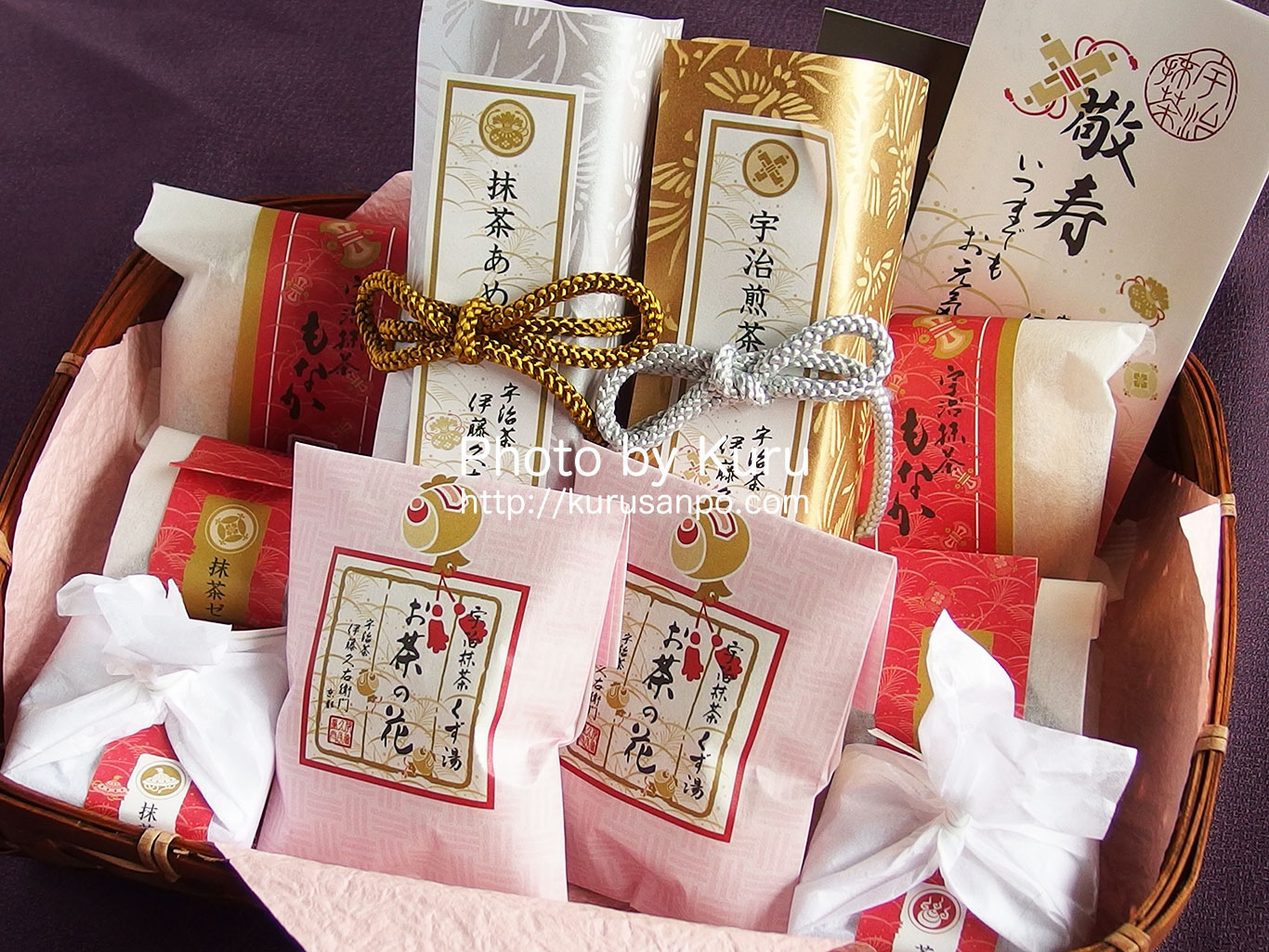 伊藤久右衛門の敬老の日ギフト『竹かごセット 宝づくし2015』を家族で楽しむ♪