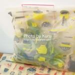 鮮度保持できる可愛いジップバッグで野菜を保存♪フェリシモのジップバッグは優れもの^^